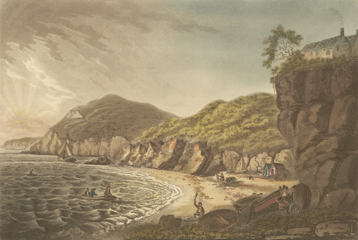 Salmon Fishery. View of the Rocks of Aberistwith